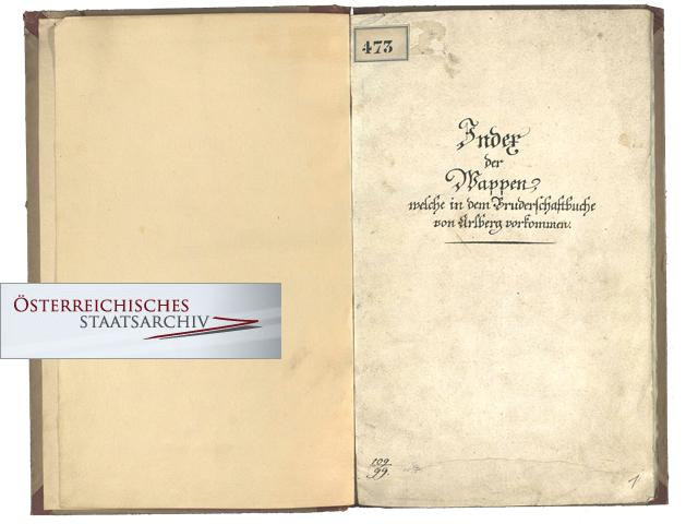 Manuscripts of the coats of arms | Brotherhood St  Christoph